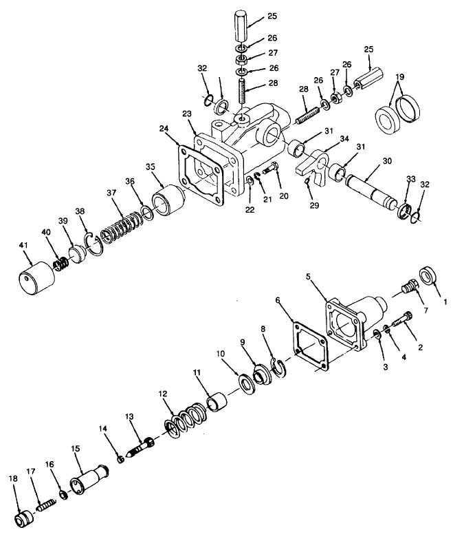 Figure 6-11. Fuel Injection Pump Housing and Related Parts