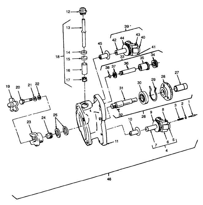 Figure 612. Mainshaft, Cover, and Governor, Exploded View