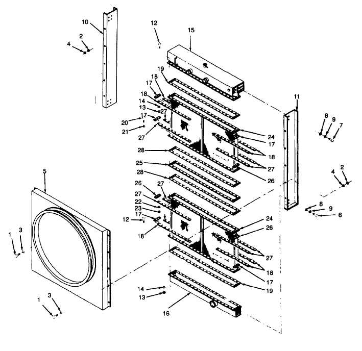 Figure 7-2. Radiator, Exploded View (Sheet 1 of 2)