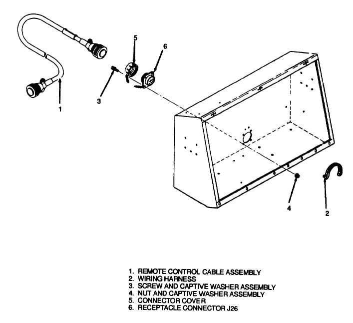 Figure 11-1. Receptacle Connector J26, Removal and