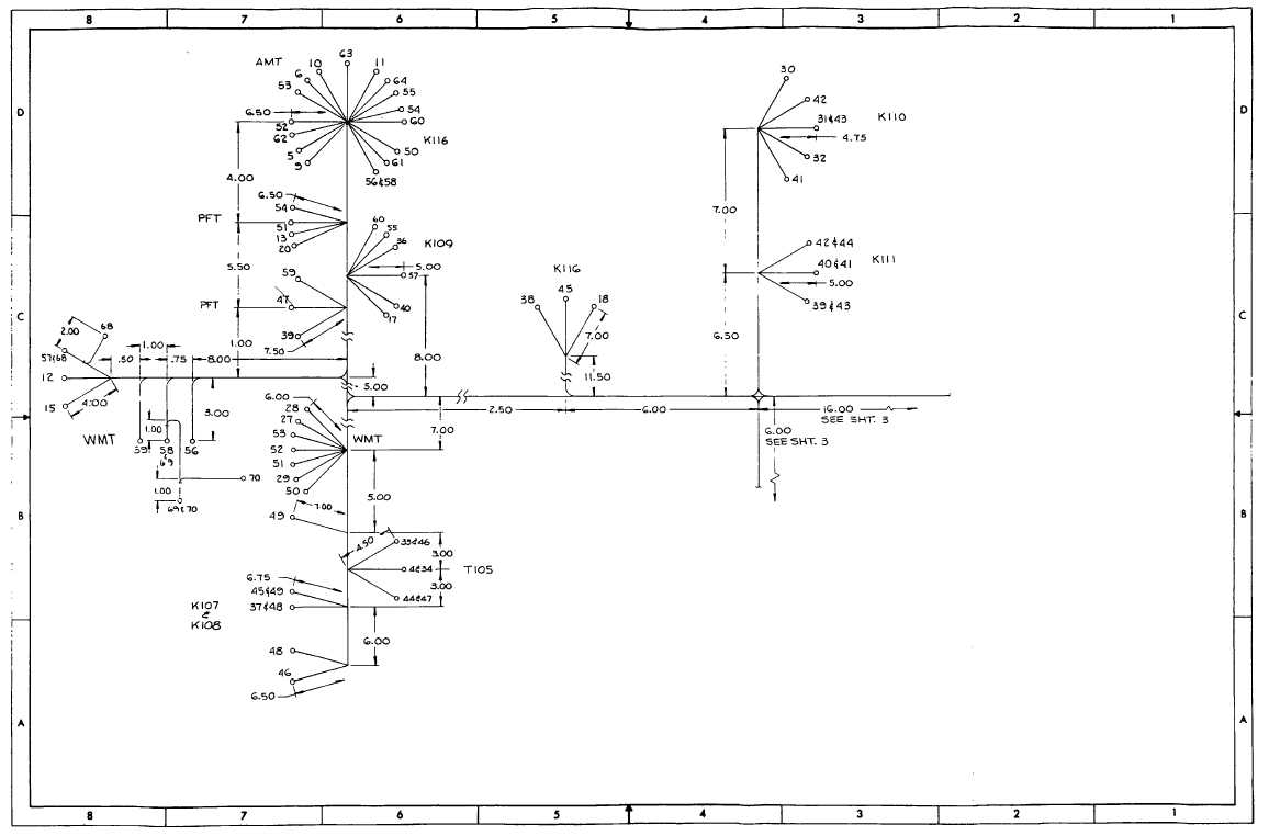 FO-28. Cabinet B Divider Panel Wiring Harness (Sheet 2 of 3)