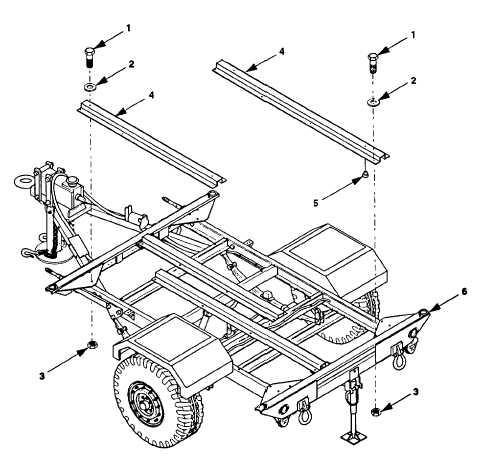 Figure 5-21. Replace AN/MIQ-35 Generator Mounting Rail.