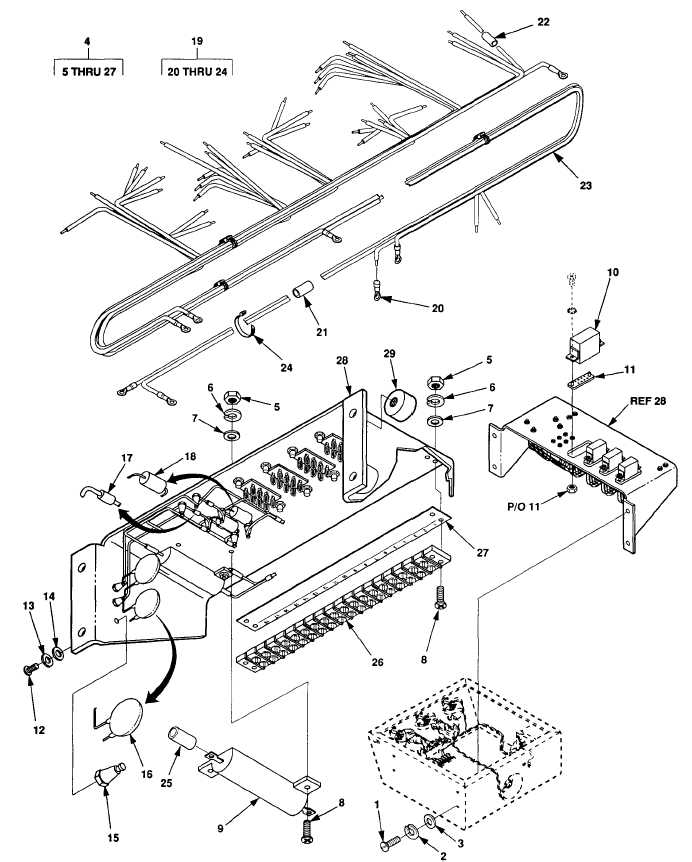 Figure F-6. Relay Board Harness Assembly (Sheet 1 of 2