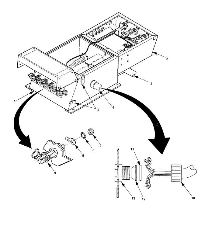 Figure 4-12. Disconnect Power Cable From Switch Box Terminals.