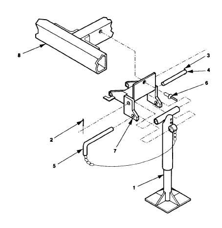 Figure 5-25. Rear Leveling-Support Jack Replacement; High