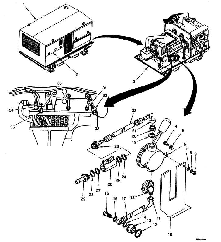 Figure 4-65. Scavenge Pump Assembly, Oil Outlet Pipe Oil