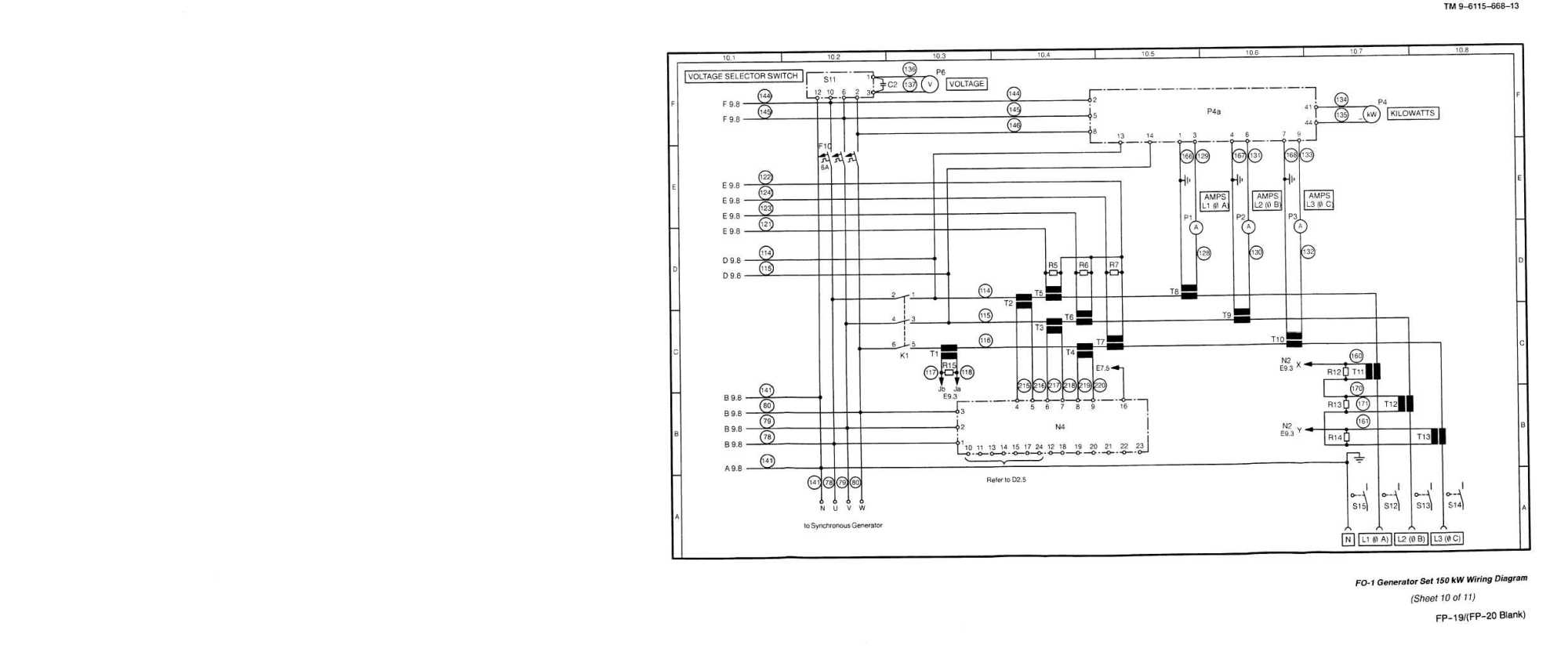 hight resolution of generator set 150kw wiring diagram sheet 10 of 11