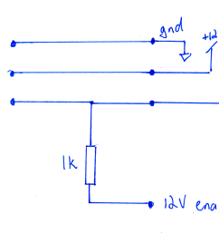 to be on the safe side and reduce the current draw on the enable line i used a 1k pull up resistor as shown on the circuit below  [ 1360 x 920 Pixel ]