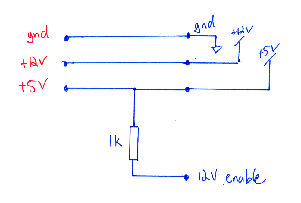 medium resolution of to be on the safe side and reduce the current draw on the enable line i used a 1k pull up resistor as shown on the circuit below