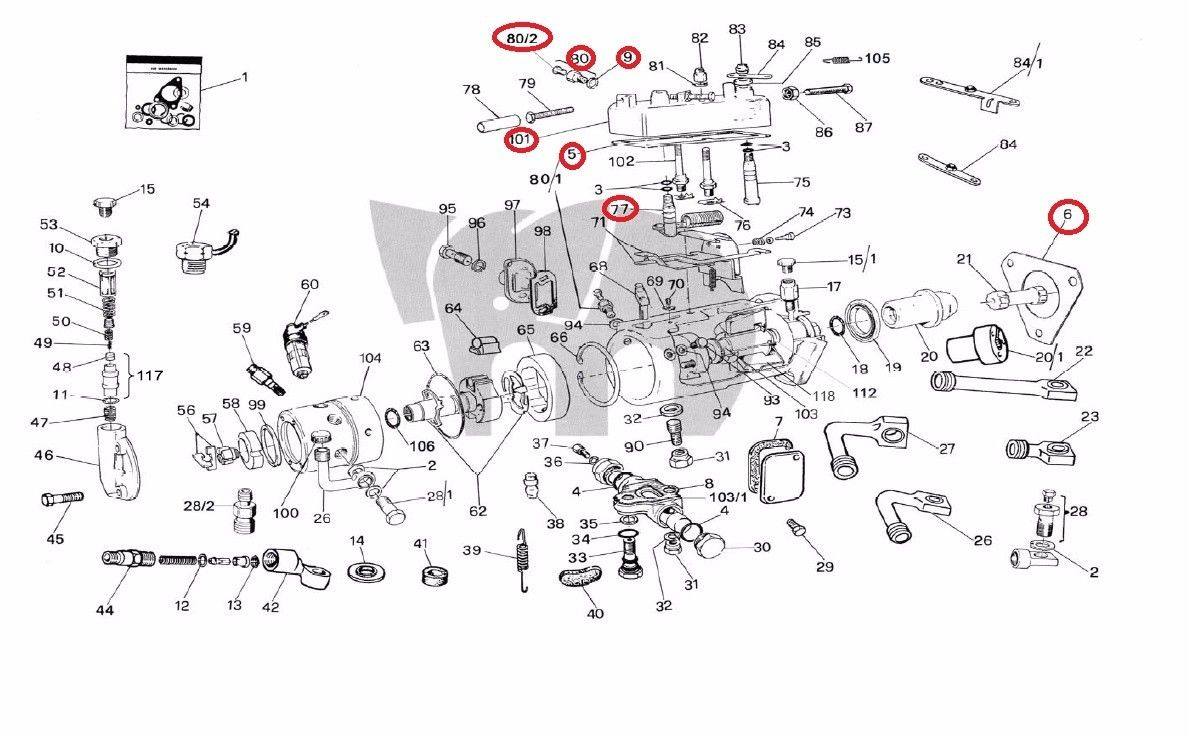 Ford Tractor Cav Injector Pump Parts Diagram