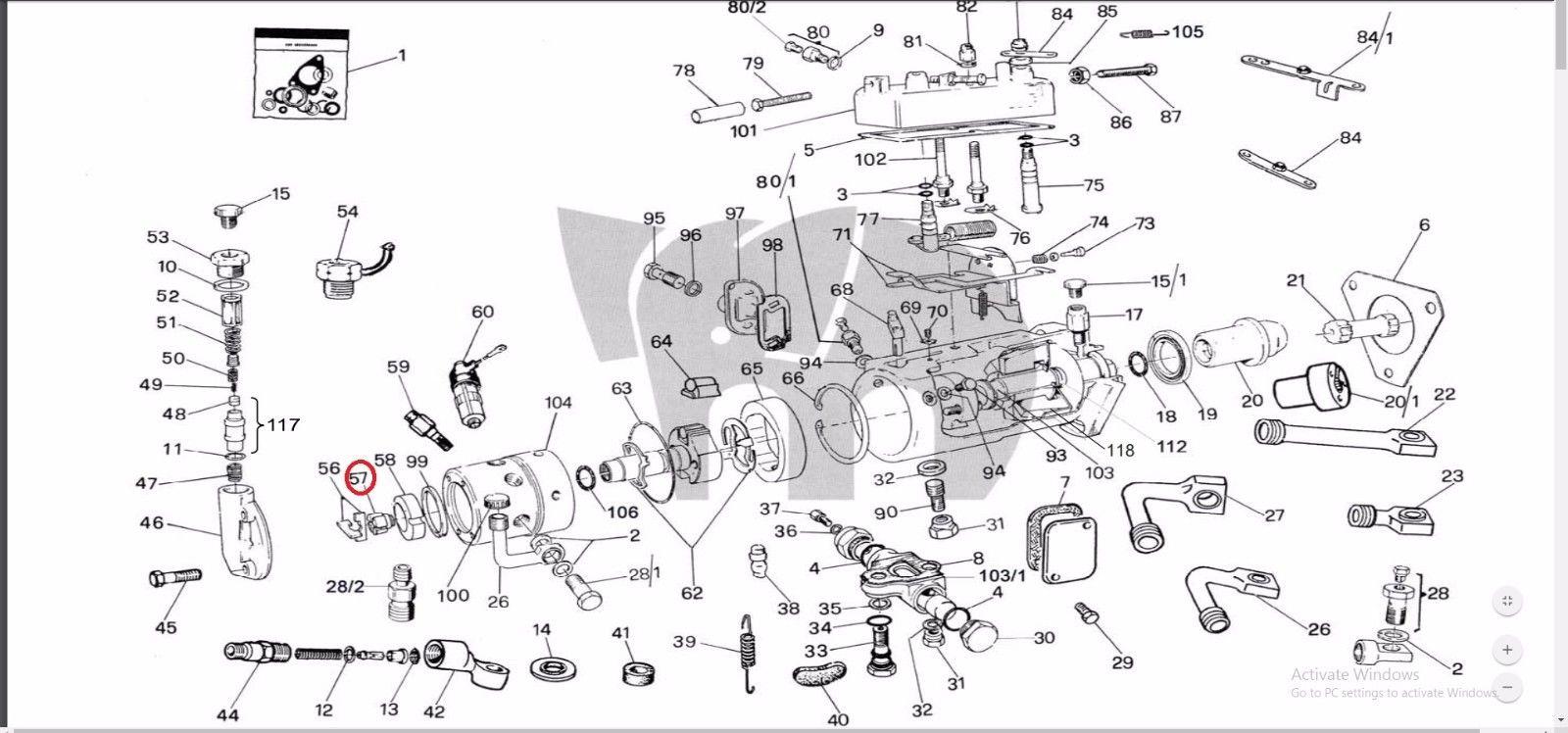 Transfer Pump Rotor Nut Dpa Dps Cav Lucas Delphi Injection