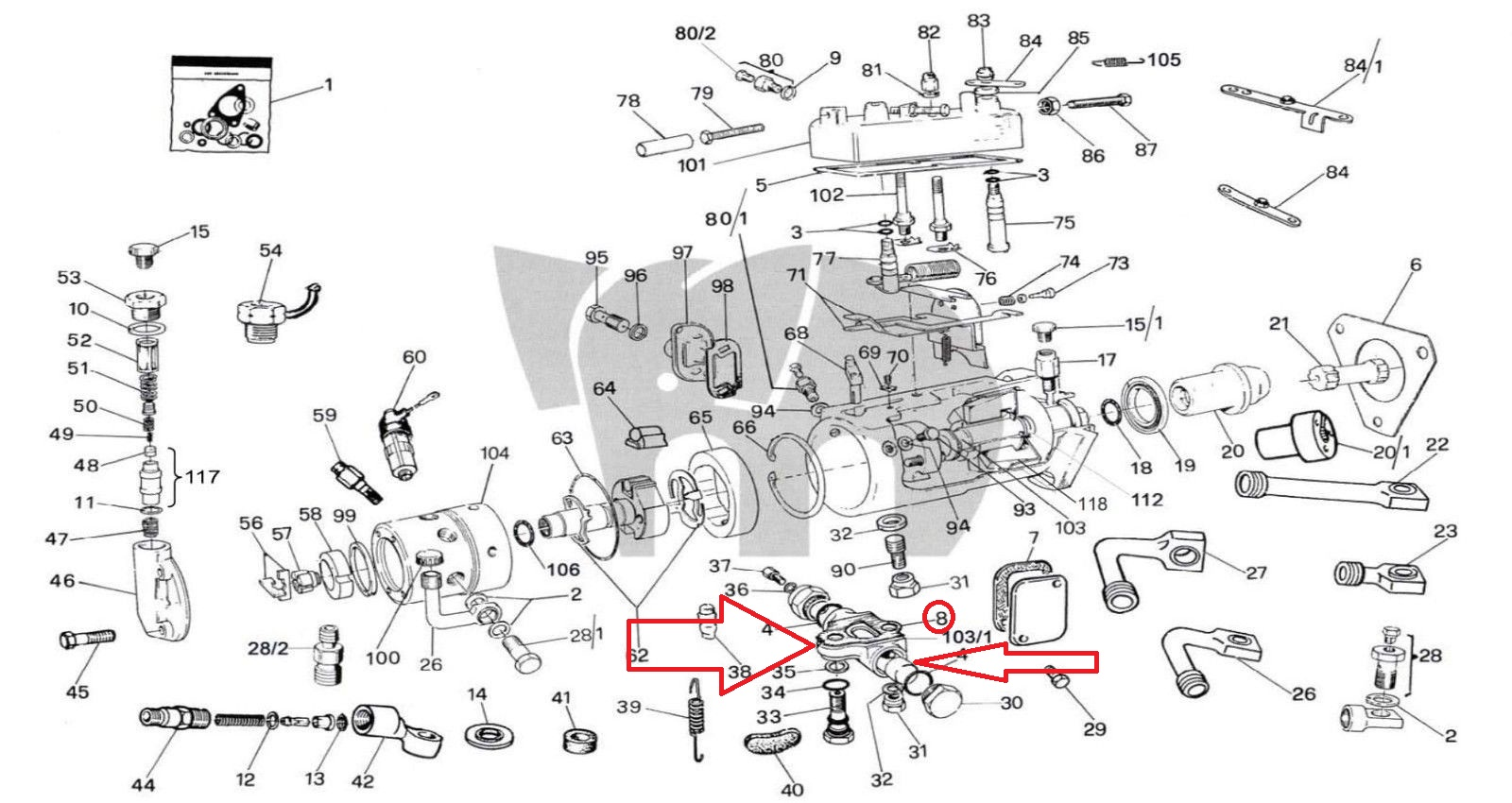 CAV Bottom Advance Body Mechanism Lucas RotoDiesel