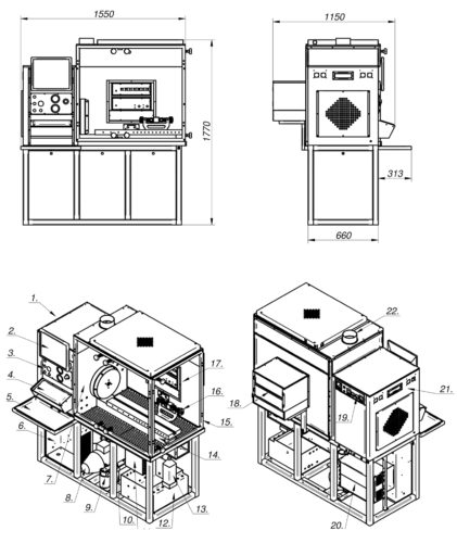 CR-TEST-2P. Test bench for high pressure fuel pumps of