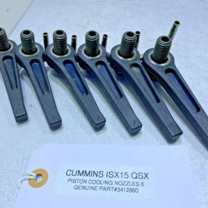 CUMMINS ISX QSX ENGINE PISTON OILER COOLING NOZZLE & BOLT 3412860 OEM