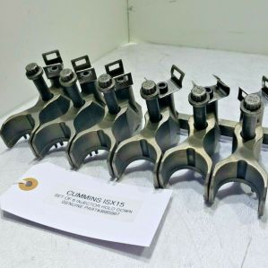 (SET OF 6) CUMMINS ISX15 DIESEL INJECTOR HOLD DOWN CLAMPS 3685567 OEM