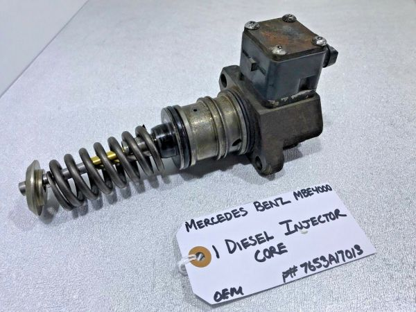 (FOR PARTS ONLY) Mercedes MBE4000 Diesel Fuel Injector Core 7653A17013 OEM