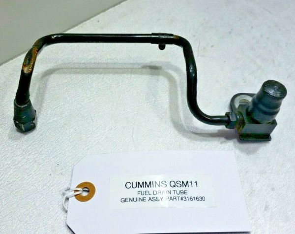 FUEL DRAIN TUBE CUMMINS ISM WITH MOUNT BRACKET 3161630 OEM