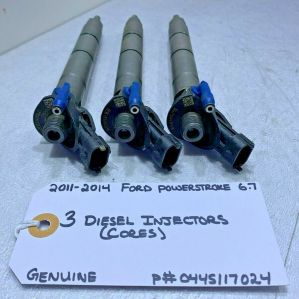 (SET OF 3 CORES) 2011 2012 2013 2014 Ford Powerstroke 6.7 INJECTORS 0445117024
