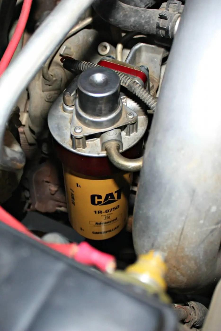 medium resolution of duramax cat fuel filter