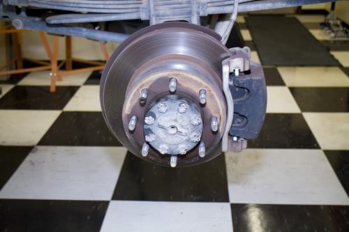 small resolution of here you see the stock rear brake rotor and the 2 piston