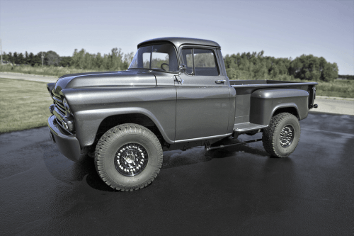 small resolution of  owner of duramax tuner just completed this immaculate frame off restoration of his 1958 chevrolet apache truck running an lb7 duramax and zf 6 manual