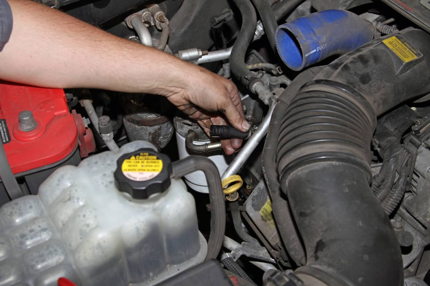 duramax fuel filter housing leaking