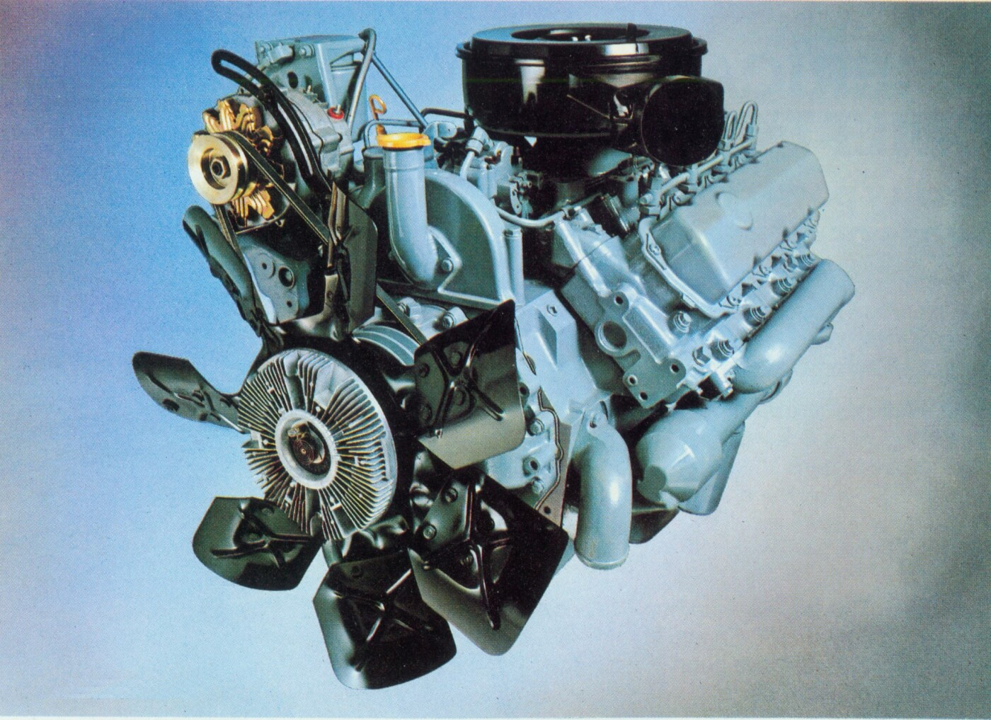 hight resolution of diesel pickup engine
