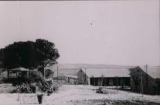 Erste Häuser in Kfar Etzion 1943