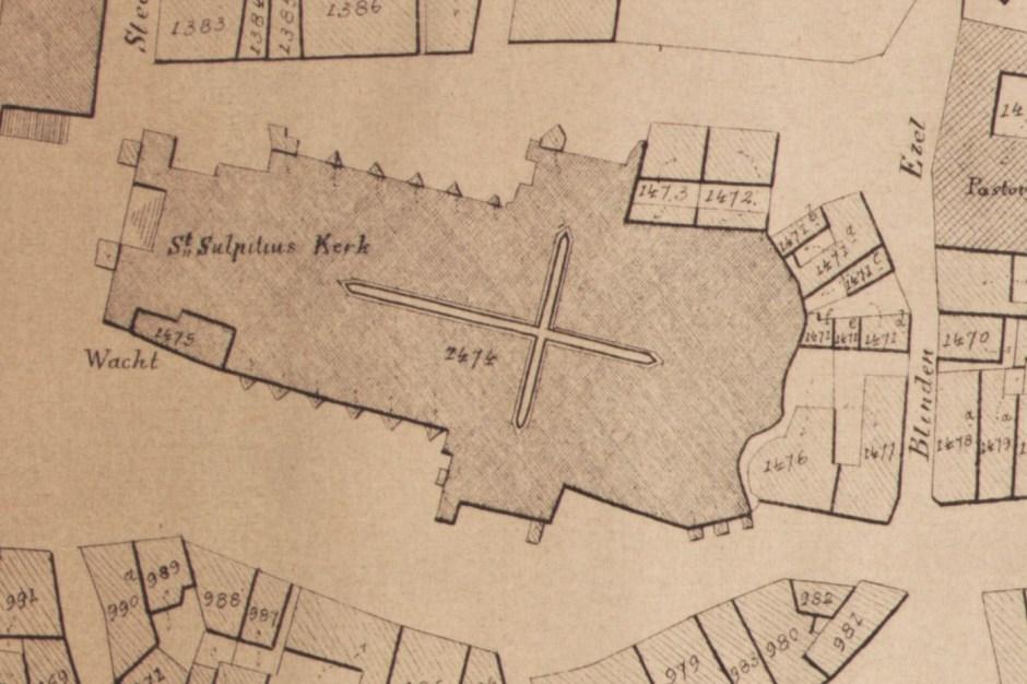 Kaart uit midden 19e eeuw