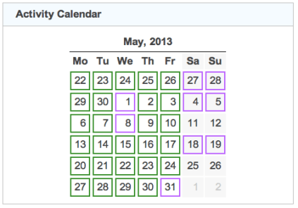 activity calendar 20130531