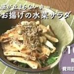 【ダイエットレシピ】カリカリ触感が止らない♪じゃことお揚げの水菜サラダ