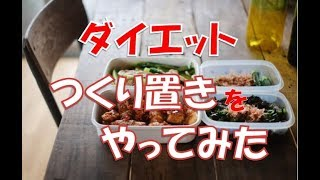 ダイエット中の食事で作り置きやってみた!_28日目_Vlog.032