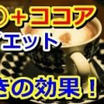 【◯◯+ココアダイエット】驚きの効果!!美容健康効果!