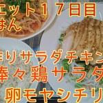 【ダイエット17日目】手作りサラダチキンの棒々鶏サラダ【簡単レシピ】