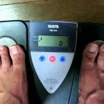 プチ断食1週間企画 2日目夜の体重と体脂肪