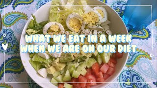 (ENG/한글) 国際夫婦のゆる〜い一週間ダイエットメニュー   What We Eat In A Week   한일커플 다이어트 메뉴 뉴욕 【#国際カップル】