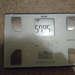 糖質制限ダイエット24日目。ついに57kg台に!!