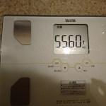 糖質制限55日目の体重。ファスティング終了2日目