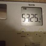 ダイエット81日目の体重