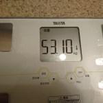 ダイエット86日目の体重