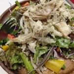 ダイエット98日目の夜ご飯、サラダと豆乳