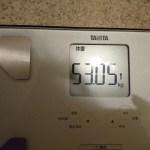 ダイエット115日目の体重