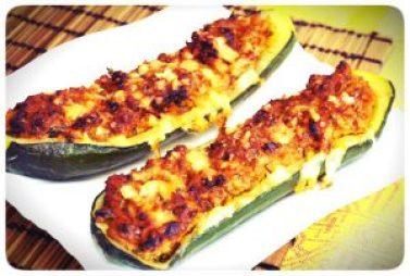 calabacines rellenos de atun y queso emmental