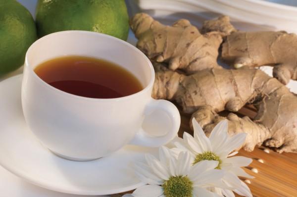 Jengibre y té de manzanilla
