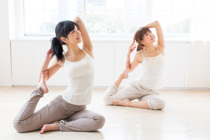 attractive asian women exercising