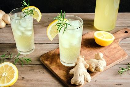 レモン生姜炭酸水