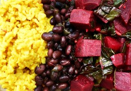 rice beans beets