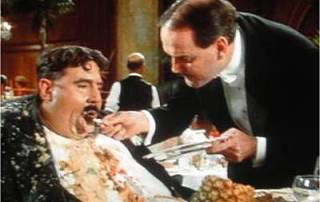 Monty Pythons Meaning Of Life Mr Creosote Its Only Wafer Thin