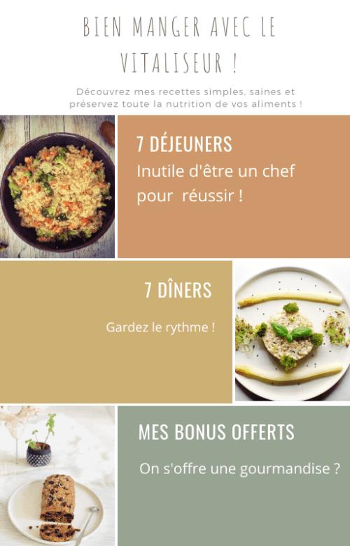 Seconde page - La vapeur douce 7 Menus végétariens