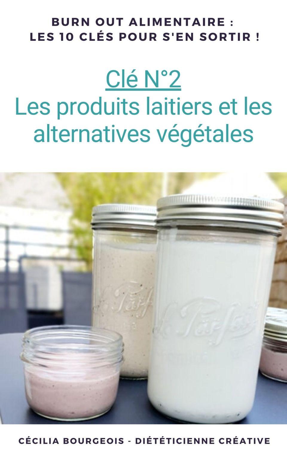 Clé N°2 Les produits laitiers et leurs alternatives végétales